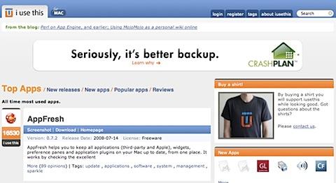 200808070022 Tidenes kilde liste over gratisprogrammer for Mac