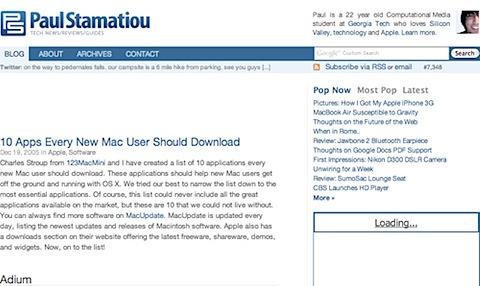 200808070031 Tidenes kilde liste over gratisprogrammer for Mac