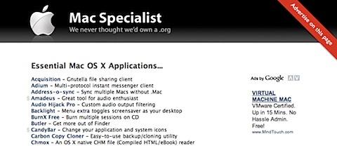 200808070105 Tidenes kilde liste over gratisprogrammer for Mac