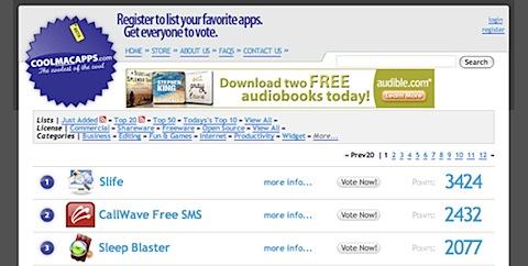 200808070113 Tidenes kilde liste over gratisprogrammer for Mac