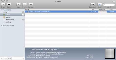 2008092309571 uTorrent for Mac har lekket til PirateBay