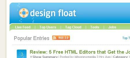Design Float - Skjermdump