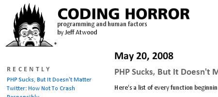 Coding Horror - Skjermbilde