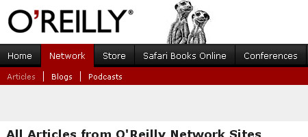 O'Reilly Network - Skjermdump