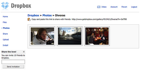 dropbox photo-interface
