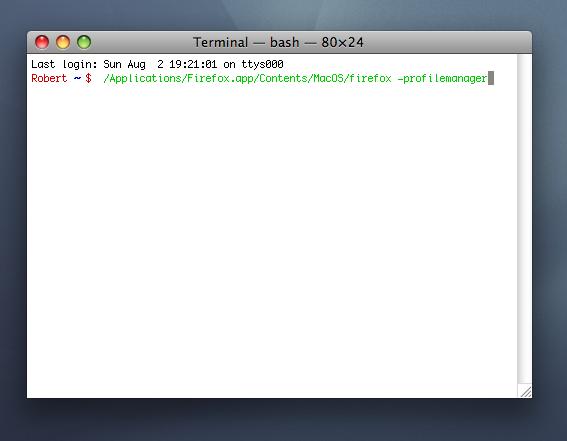 I første metode bruker vi bare Mac OS X sin Terminal for å hente profilbehandler-vinduet.