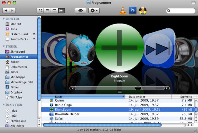 Right Zoom er en veldig enkel bakgrunnsprosess, kanskje for enkel for noen (foto: skjermdump, Teknonytt).