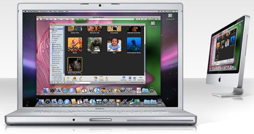 back to my mac head Mac OSX Leopard: Skjermdeling.app
