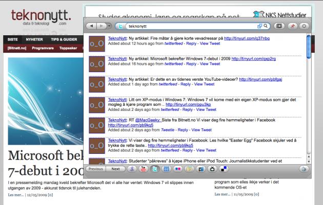 KwiClick er blant mine favorittutvidelser så langt i år - her brukes den til å søke på Twitter (foto: Bitnett.no).