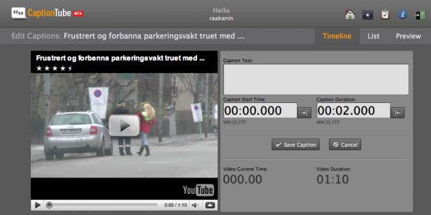 CaptionTube er en genial og enkel løsning hvis man ønsker å kommentere eller tekste YouTube-videoer.