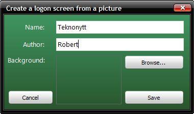 createloggin Tilpass innloggings skjermbildet i Windows Vista