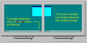 doubledesktop DoubleDesktop   to skrivebord i Windows, enkelt og greitt