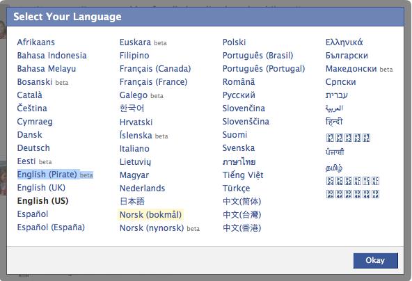 Visste du at det finnes en egen pirat-versjon av det engelske språket (foto: Bitnett.no).