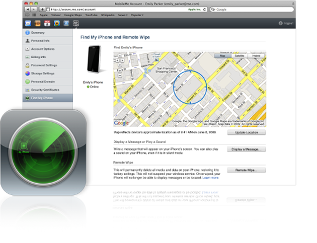 Find My iPhone er en av de nye funksjonene som virkelig virker fristende - finn din iPhone om du mister den (foto: Bitnett.no)