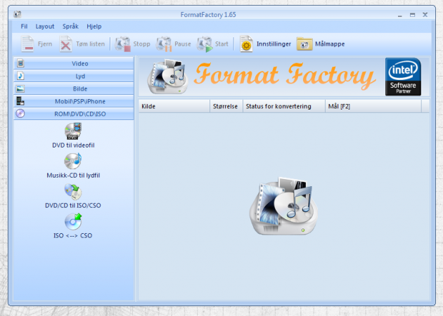 formatfactoryskjerm 630x450 FormatFactory   eit konverteringsprogram som spyttar ut det meste