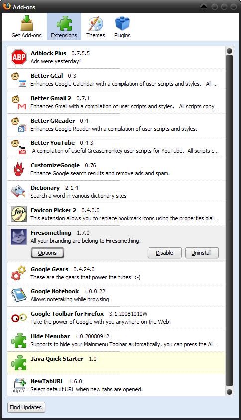 foxglove full addonslist FoxGLove: Firefox for Google Apps elskere