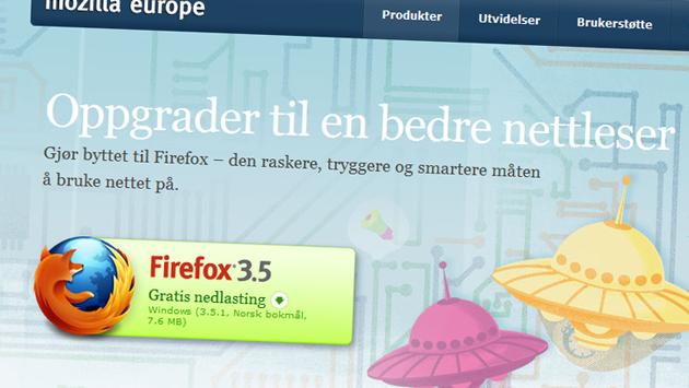 Firefox 3.5.1 tetter sikkerhetshull og gjør nettleseren raskere og mer stabil. (Foto: Faksimile, Mozilla)