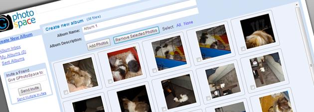 gphotospace GPhotospace: Lagre og del bilder på din Gmail konto