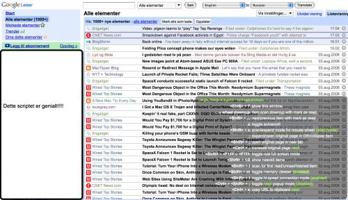 grease 500x288 Marker som lest mens du scroller i Google Reader i Listevisning!++