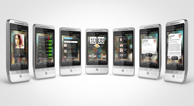 "Ulike scenarier i HTC Heros nye ""Sense""-menysystem. (Foto: HTC)"