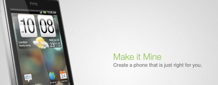 """Make It Mine: HTC Hero avviker fra sine Android-brødre med et helt nytt menysystem. """"Sense"""" minner veldig om menysystemet på HTCs Windows Mobile-telefoner, og gir telefonen et HTC-touch. (Foto: HTC)"""