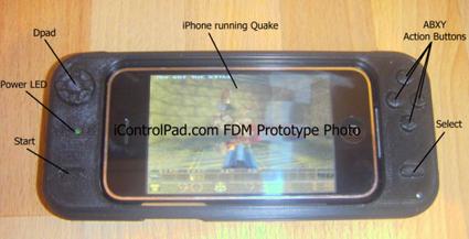 icontrolpad prototype iControlPad for iPhone   genial spillkontroll