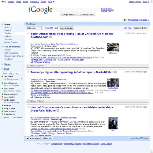 igoogle1 iGoogle kommer i ny versjon   test det ut før den offisielle lanseringen