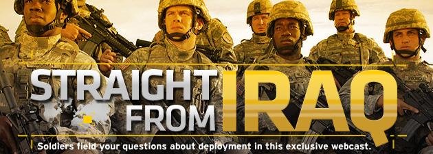 iraq Amerikansk hær håper å rekrutere gjennom webcasts