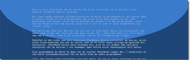 JDarkRoom behøver ikke å være så mørk som navnet tilsier, her er applikasjonen i et blått fargetema (Foto: Leif-Ole Arntzen).