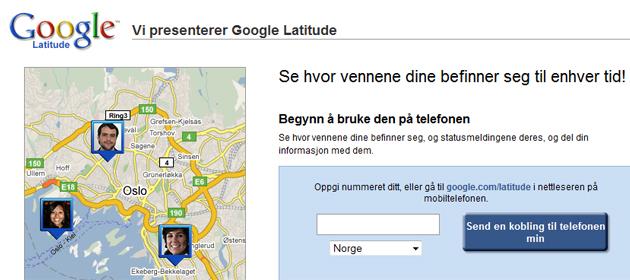 latitude large google La vennene dine se din geografiske posisjon med Google Latitude