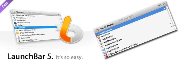 launchbar 5 beta fe LaunchBar 5 Beta: En fullverdig erstatter for Quicksilver? [Mac]