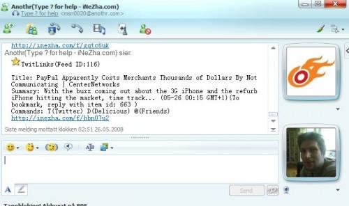 msnanothr 500x296 Anothr: nyheter direkte i din IM klient