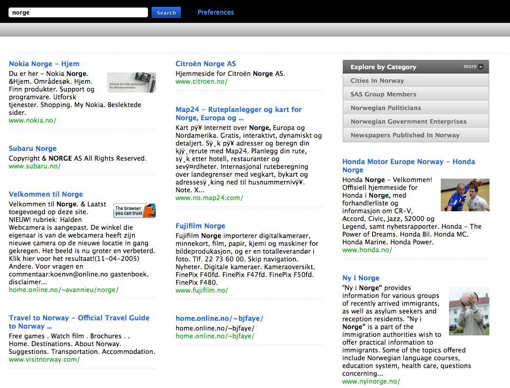 norge cuil Cuil   Ny søkemotor laget av eks ansatte fra Google