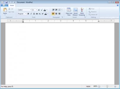 WordPad (klikk for større bilete)