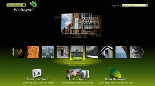 photosynth 500x277 Microsoft lanserer en 3D fototjeneste, og slår tilbake på Mac reklamene