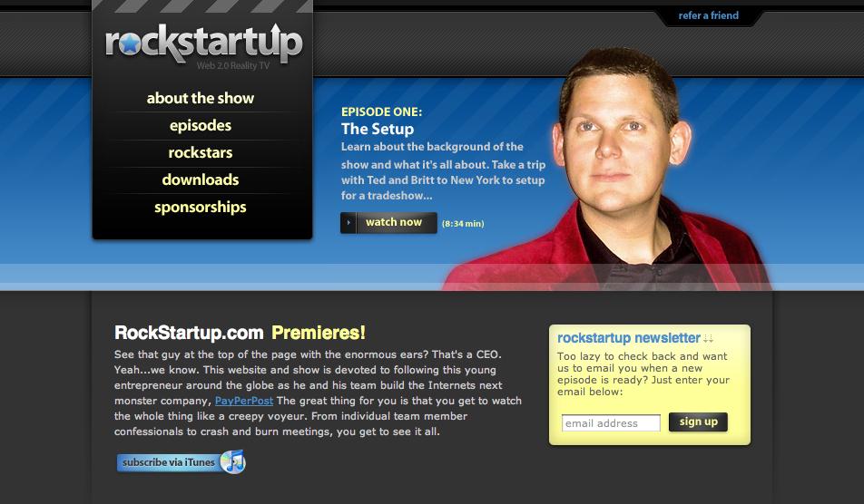 rockstartup Følg et Web 2.0 selskap fra fødselen i et underholdende relity show
