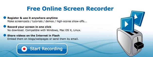 screentoaster record ScreenToaster   Nettbasert opptak av skjermen din!