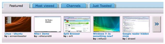 screentoaster videoer ScreenToaster   Nettbasert opptak av skjermen din!