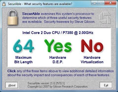 Ingen XP-modus på denne datamaskinen