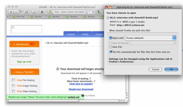 Bildet: Med SkipScreen slipper du å bruke tid på unødvendige ting når du bruker nedlastingstjenster