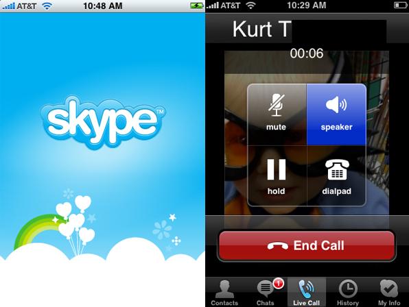skype sak Skype slippes til iPhone på AppStore
