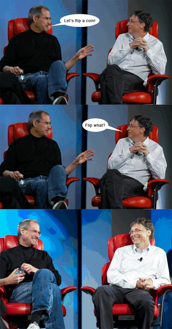 steve jobs bill gates humor 2 Verden er ikke lik for alle   nerdehumor