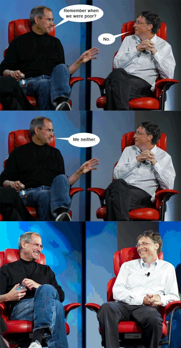 steve jobs bill gates humor Verden er ikke lik for alle   nerdehumor