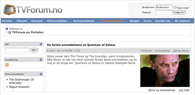 tvforum1 TVForum.no   Tjen penger på å skrive om film og tv serier.