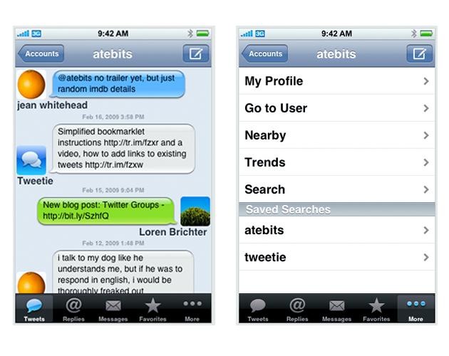 tweetie ss 5 AppStore programmer som gjør iPhone verdt å kjøpe