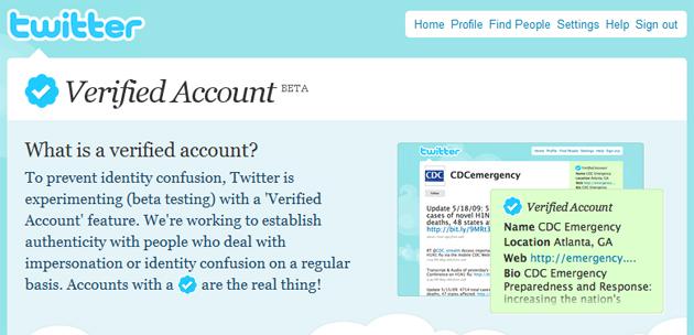 %name Twitter verifiserer autentiske kontoer   men kun et fåtall