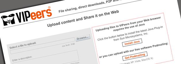 vipeers fe VIPeers: En genial måte å dele filer på (Beta invitasjoner)