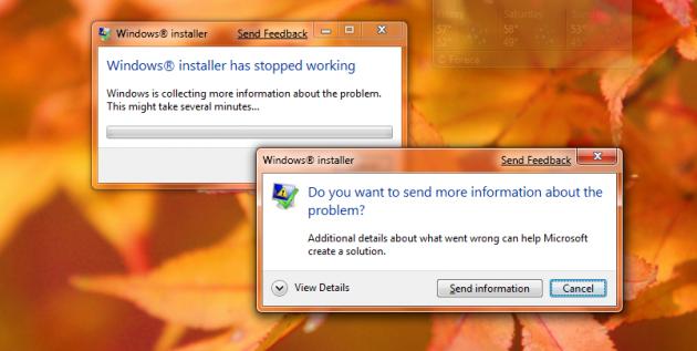 <strong>Bildet</strong>: Mange sliter med å installere nye programmer i Windows 7 Beta (foto: Gizmodo).