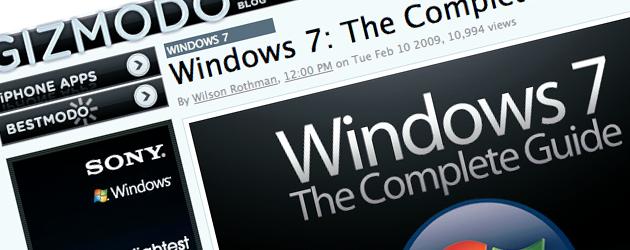 windowsguide Gizmodos komplette guide for Windows 7