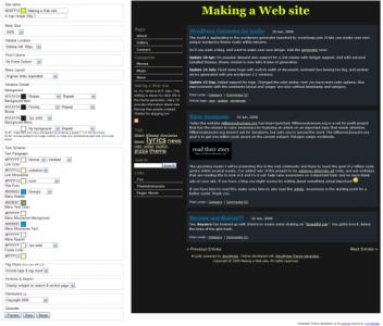 wordpress theme generator 540x460 352x300 Lag ditt eget Wordpress theme, uten en eneste linje med kode